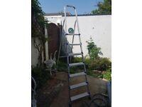 Werner 7 tread aluminium step ladder