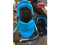 Silver Cross Surf travel system + car seat + isofix