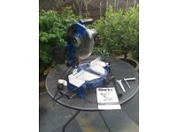 "10"" mitre saw with handbook and accesories"