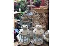 Bird cage and lanterns