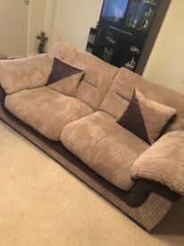DFS sofa , electric recliner and footstool