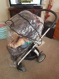 Mamas and papas sola black pushchair both side facing