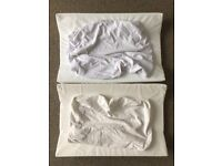 2x wedge changing mat + cover (white + cream)