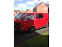 Vw T25 camper / day can rear seats, tv DVD, lined, rear windows, leisure battery