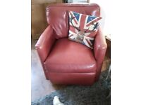 Red leather rock & Swivel excelent condition very comfortable. Pick up only