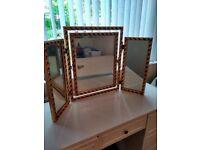 Triple Freestanding Mirror