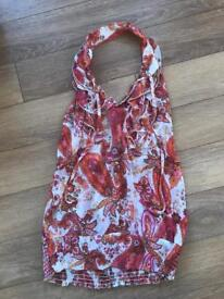 Colourful halter top