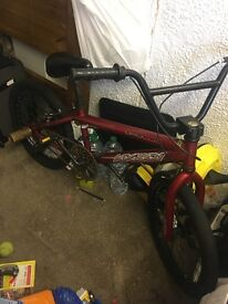 Red bmx bike used but in excellent condition