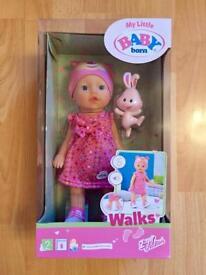 My Little Baby Born Walks Dolly - Brand New In Box