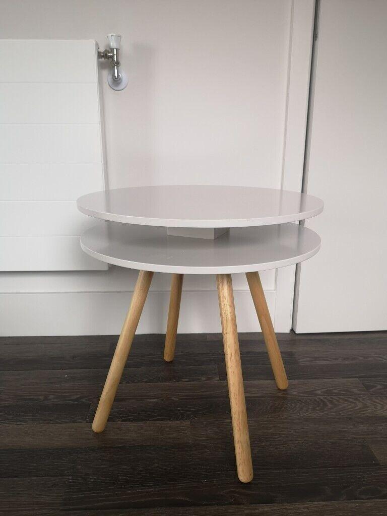 Light Grey Bedside Table: Coffee / Side / Bedside Table