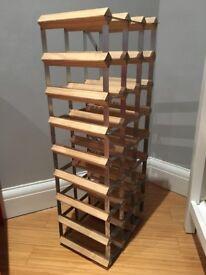 Solid Wooden Wine Rack - Holds 24 bottles