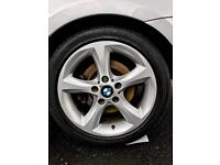 """BMW Alloys Wheels Sport Facelift & 4 Legal Tyres 17"""" Good Condition"""