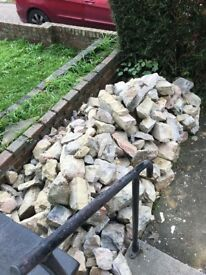 Approx 1 1/2 tonne Face stone- free to collect