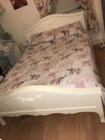 King size white Toulouse bed frame from Dunelm