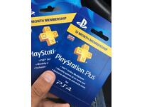 Psn Plus 12 month scratch codes