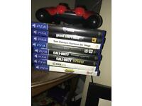 PS4 with fifa 18, cod ww2 assains crews, rocket league and more