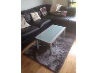 Grey dense rug 100x150 cm
