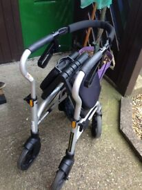 Nearly new only used a hand full off time excellent condition for wheel walker rollator