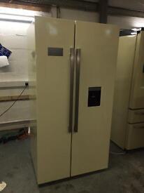 Cream American fridge Freezer by bespoke fridges uk