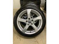 "Genuine 17"" Audi A3 alloy wheels and tyres Fit Golf-Leon-Volkswagen-Skoda"