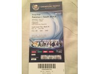 Pakistan vs South Africa Ticket - ICC Champions Trophy