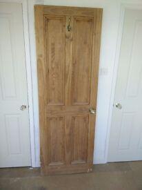 Solid Pine Wood Stained Door
