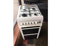 Beko white Gas cooker 50cm