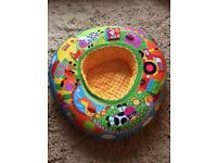 Inflatable baby play ring sit up animals