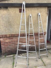 Window cleaning round Window cleaning ladders. Window cleaner