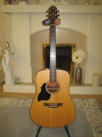 As New, Never Played. Crafter Lite-D LH/SP Left-Handed Acoustic Guitar With Tags. C/W Padded Gigbag