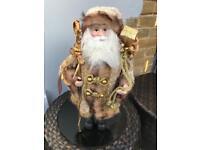 Luxury gold standing santa decoration
