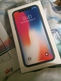 Brand new sealed iPhone X Space Greh 64 GB