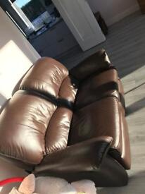 Ex Anderson's Brown Leather sofa