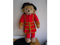 MARY THOUGHT Stuffed Royal Guard Teddy Bear Hand Made in England