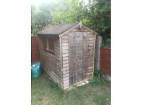 6'x4' used garden shed
