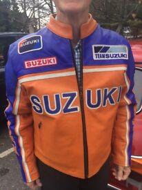 Suzuki leather racing jacket