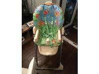 High chair reclining free to collector