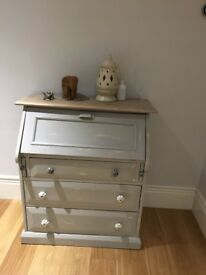 Grey painted bureau in excellent condition