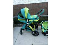 Immaculate iSafe Lil Friends travel system with extras