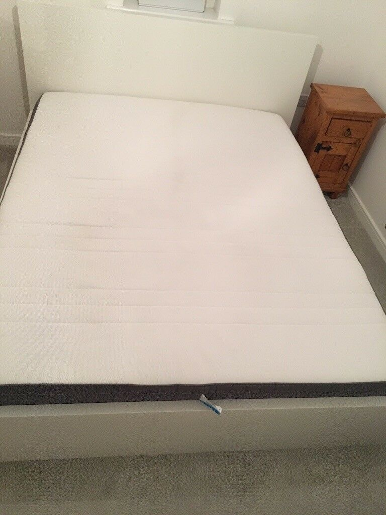 Ikea malm bed frame king with mattress