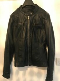 Size 10/12 faux leather biker jacket