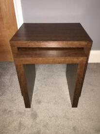 Nest of two tables - Mango laminate from Next