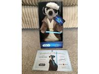 Limited edition SERGI AS OBI-WAN KENOBI Meerkat. Comes with certificate of authenticity.