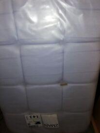 Single headboard BNIB White Fabric still in packaging.