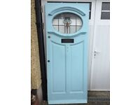 1930's original front door with stained glass. Good condition .