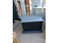 TV Stand,Grey with glass doors