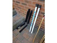 Junior Ice Hockey Sticks, Goal Keeper Sticks and Ball