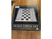 Glass chess set missing 3 pieces