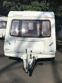 Elddis odyssey 4 berth fixed bed touring caravan