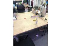 6 Plywood top desks for sale